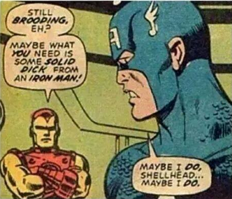 A solid dick from an iron man